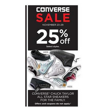 25% Off Converse Chuck Taylor All Star Womens Sneakers