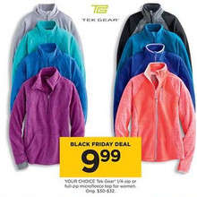 Tek Gear Womens 1/4-Zip Microfleece Top
