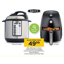 Bella Pressure Cooker [Rebate]