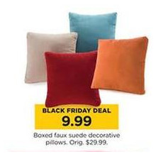 Boxed Fuax Suede Decorative Pillows (Select Colors)