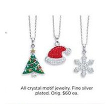 Crystal Motif Fine Silver Plated Jewelry