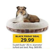 Cuddl Duds 35-in. Diameter Tufted Pet Bed