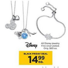Disney Silver Plated Jewelry (Assorted)