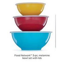 Food Network 3-pc. Melamine Bowl Set w/ Lids