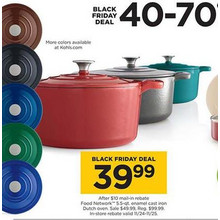 Food Network 5.5-qt. Enamel Cast Iron Dutch Oven (Assorted Colors) [Rebate]
