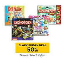 50% OFF Games (Select Styles)