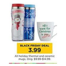 Holiday Thermal Mugs (Assorted)