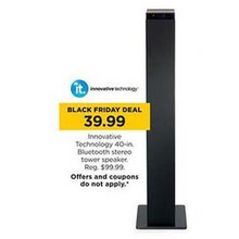 Innovative Technology 40-in. Bluethooth Stereo Tower Speaker