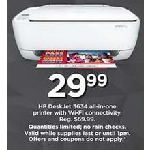 HP DeskJet Al-In-One Printer (3634)