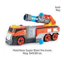 Matchbox Super Blast Fire Truck