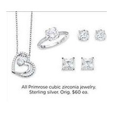 Primrose Cubic Zirconia Jewelry Sterling Silver (Assorted)