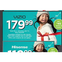 "Vizio 39"" LED TV"