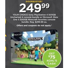 Xbox One S Minecraft Console Bundle [EarlyBird]