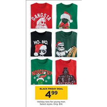 Young Men's Holiday Tees (Assorted Styles)