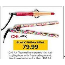 CHI Air Tourmaline Ceramic 1-in. Hair Styling Iron + Curling Wand