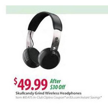 Skullcandy Grind Wireless On-Ear Headphones - Black/Chrome