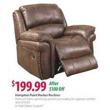 Hampton Point Rocker Recliner - Brown