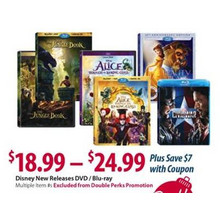 Disney New Releases DVD/Blue-Ray FROM $18.99