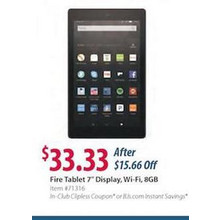 "Amazon Fire 7"" Tablet, 8GB Memory"