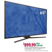 "Samsung 65"" 4K UHD Smart LED TV (UN65KU6290)"