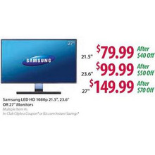 "Samsung 23.6"" LED 1080P Monitor"