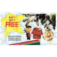 BOGO FREE Hallmark Licensed Ornaments (Assorted)
