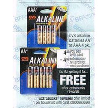 $4.39 + $4.39 ECB Rewards Alkaline Batteries AA or AAA