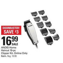 Andis Home Haircut 19-pc. Clipper Kit
