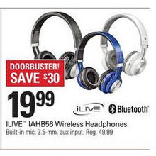 Ilive IAHB56 Wireless Headphones