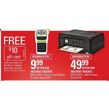 Brother Touch Label Maker & Brother J485 Printer + $10 GF