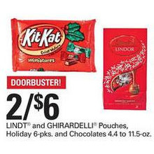 Lindt Pouches 2 FOR $6.00