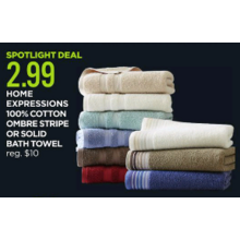 Home Expressions Solid Bath Towels