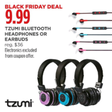 TZUMI Bluetooth Headphones (Assorted)