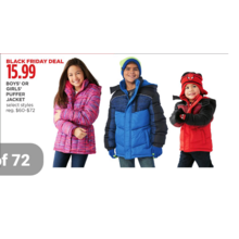 Boys' Puffer Jacket (Assorted)