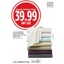 Liz Claiborne Liquid Cotton 100% Pima Cotton Sheet Set (Assorted Colors)