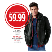 Mens Faux-Leather Jackets