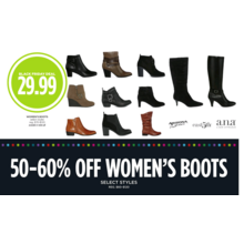 50-60% Off Womens Boots (Assorted Styles)