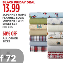 60% Off Home Flannel Solid Sheet Set