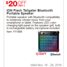 ION Flash Taligater Bluetooth Portable Speaker - $20 Off