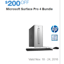 Microsoft Surface Pro 4 Bundle - $200 Off