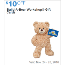Buil-A-Bear Workshop Gift Cards - $10 Off