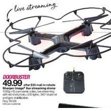 Sharper Image Live Streaming Drone
