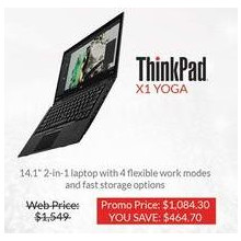 "Lenovo X1 Yoga Thinkpad 14.1"" 2-In-1 Laptop"