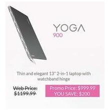 "Lenovo Yoga 900 13"" 2-In-1 Laptop"