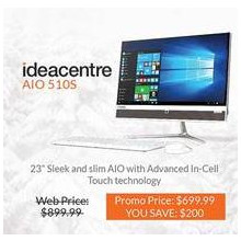 "Lenovo Ideacenter AIO 23"" Touch Screen Desktop"