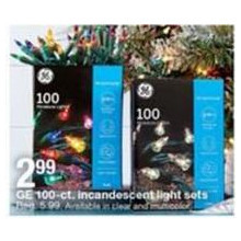Ge 100-ct. Incandescent Light Sets