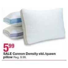 Cannon Density Std. Queen Pillow