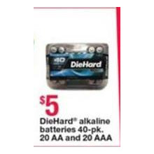 DieHard 40-pk. Batteries (20 AA)