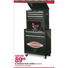 Craftsman 5-Drawer Tool Center