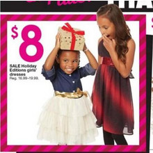 $8 Holiday Editions Girls' Dresses (Assorted Styles)